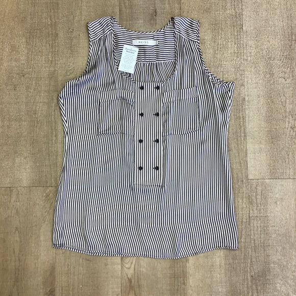 Reiss 100% Silk Striped Top Size 12