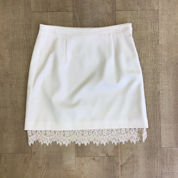 BNWT Warehouse Cream Lace Skirt Size 12
