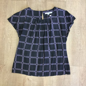 Boden Grey and Purple Top With Silk Size 12