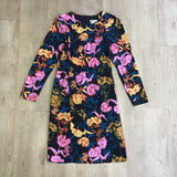 Whistles Floral Dress With Silk Size 12