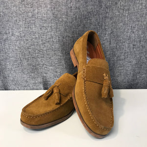 Onfire Tan Loafer Suede Shoes Size 6