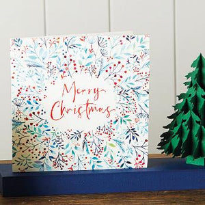 Merry Christmas Foliage Shelter Charity Christmas Cards