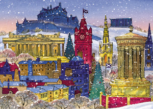 Edinburgh Painting Christmas cards, pack of 10