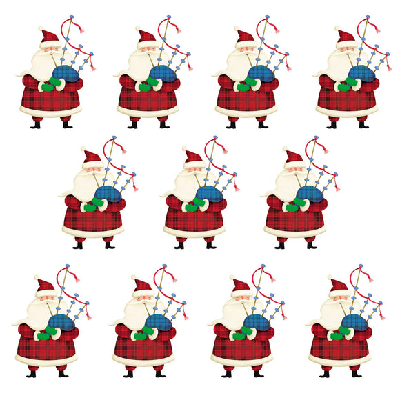 11 Pipers Piping Christmas cards, pack of 10