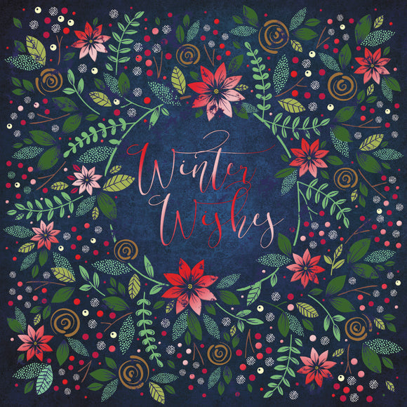 Winter Wishes Christmas cards, pack of 10
