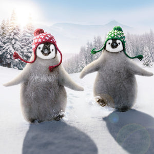 Wrap Up Warm Penguins Christmas cards, pack of 10