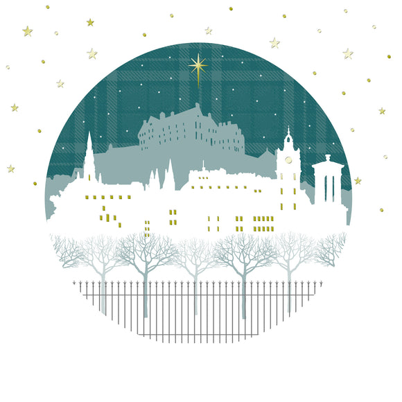 Edinburgh stars Shelter Christmas card