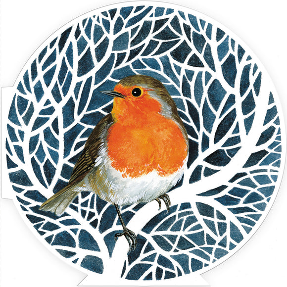 Flitter Robin Christmas cards, pack of 10