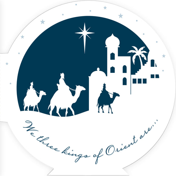 We Three Kings Christmas cards, pack of 10