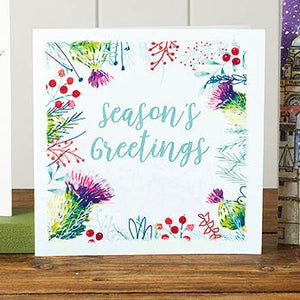 Season's Greetings Thistle Shelter Charity Christmas Cards
