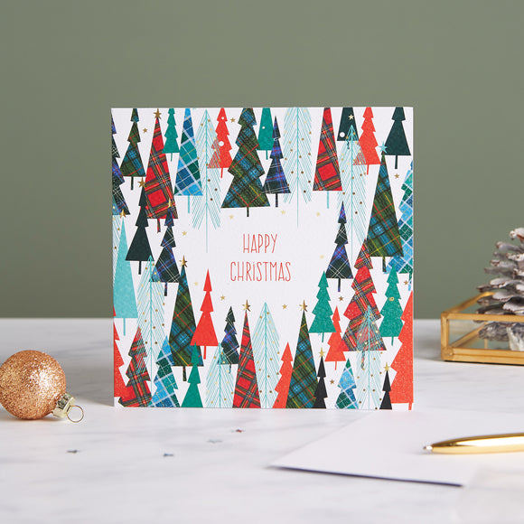 Tartan Forest  Shelter Charity Christmas Cards