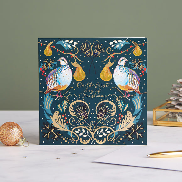 Opulent Partridges Shelter Charity Christmas Cards