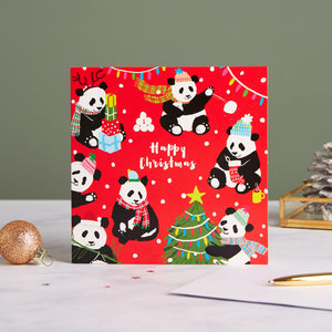 Party Pandas Shelter Charity Christmas Cards