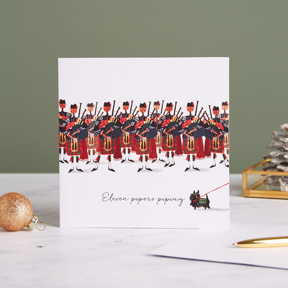 Eleven Pipers Shelter Charity Christmas Cards