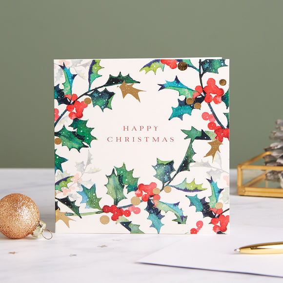 Christmas Holly Shelter Charity Christmas Cards