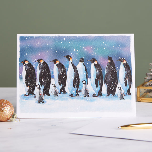 March of the Penguins Shelter Charity Christmas Cards