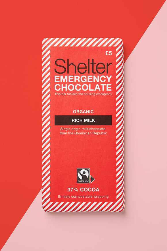 Rich milk chocolate Shelter charity Christmas gifts