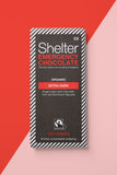 Vegan extra dark chocolate Shelter charity Christmas gifts