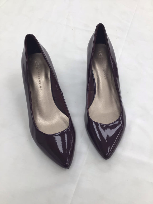 M&S ladies shoes burgandy