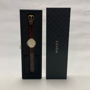 Povey Watch New (Brown Strap)