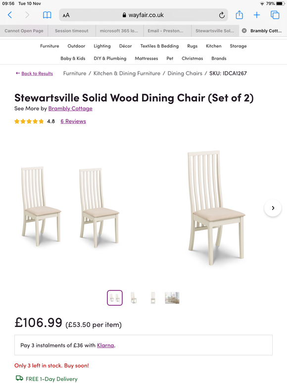 Dining chairs (New)