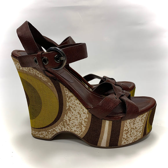 Miu Miu, Wedge Sandals, Size 4