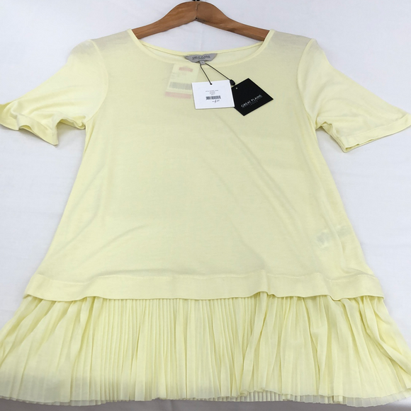 BNWT yellow t shirt Great Plains London