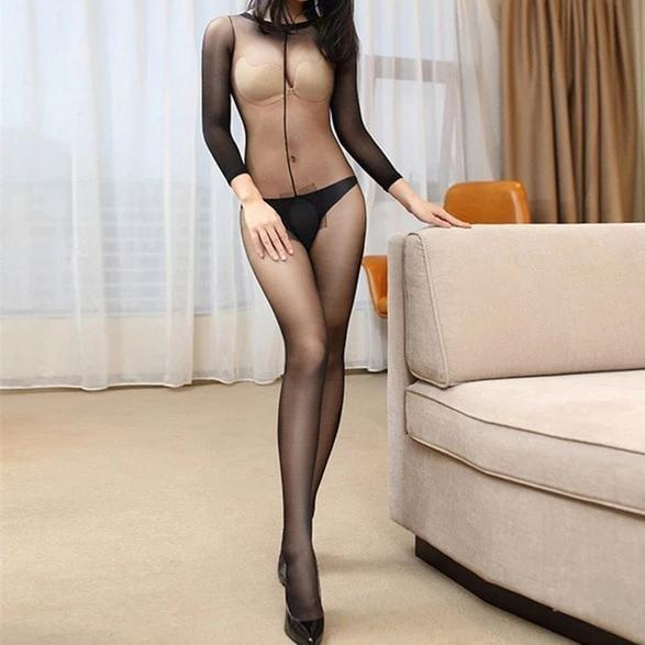 Obcise bodystocking - Czarny - Bodystocking
