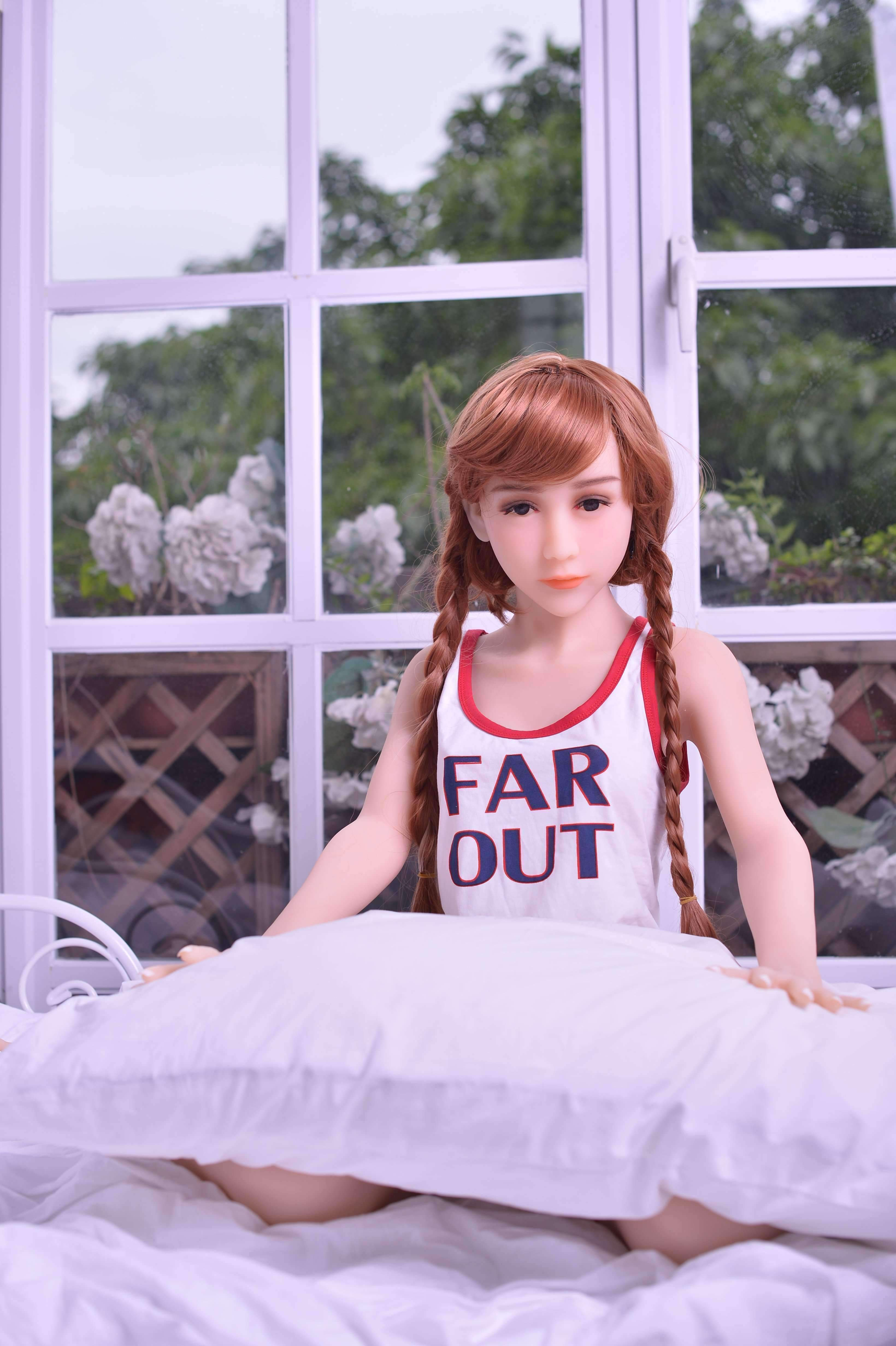 Love Doll France red Silicone Redhead Sexdoll rousse