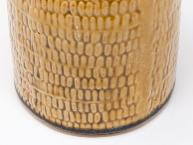 Honey striped vase