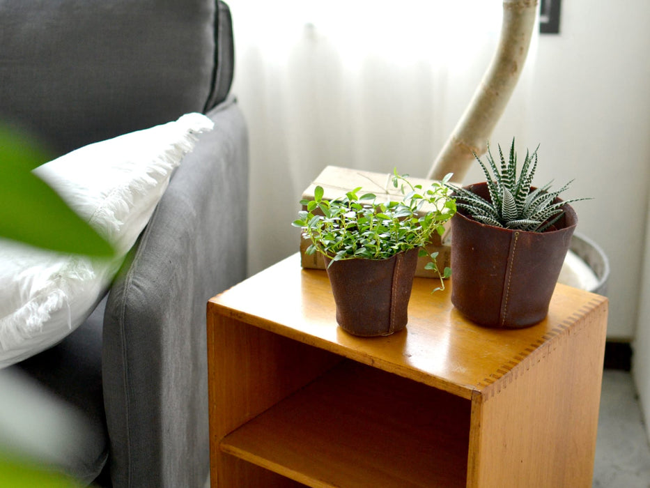 Leather planter