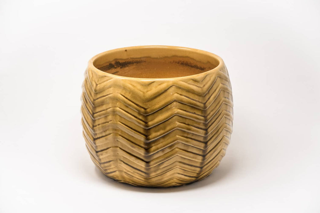 Herringbone planter pot
