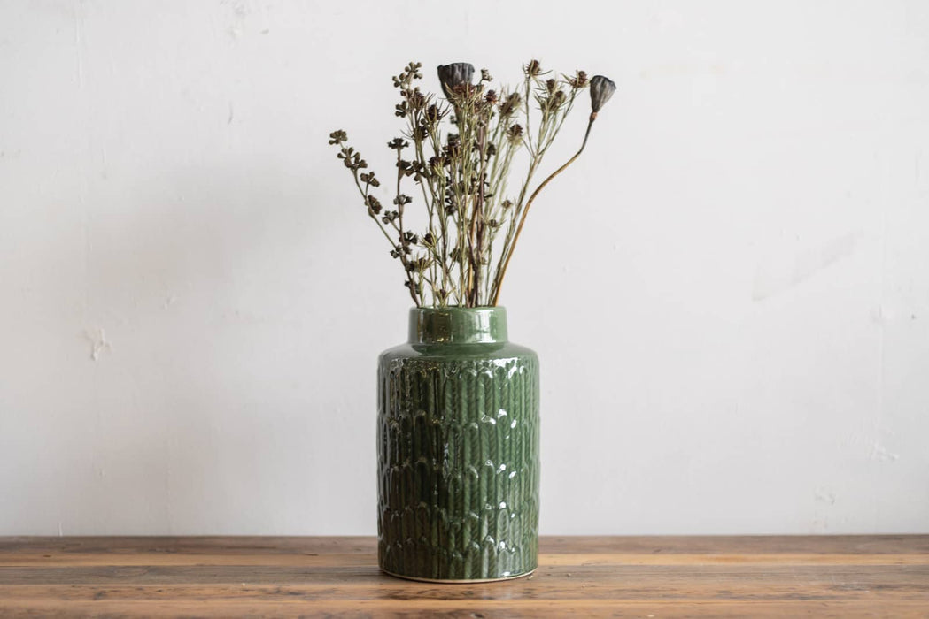 Feather flower vase