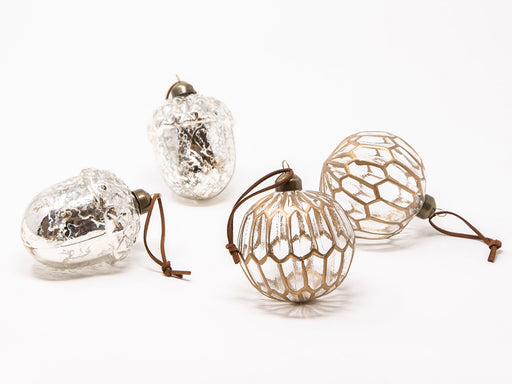 【ONLINE STORE限定】Painted accordion ball & Silver acorn ミックス