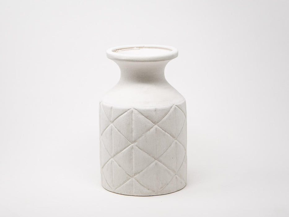 Cross white flower vase