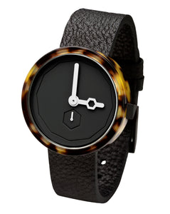 Aark Collective Classic Tortoise Watch with Black Face