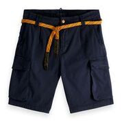 Scotch & Soda Classic Washed Cargo Short  in Steel 0562