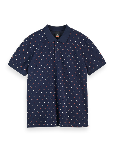 Scotch & Soda Classic All-Over Printed Cotton Pique Polo Combo A | Buster McGee Daylesford