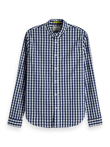 Scotch & Soda Stretch Gingham Shirt Regular Fit Combo A 0217