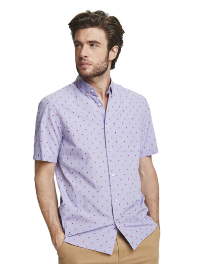 Scotch & Soda Short Sleeve Fil-Coupe Shirt Combo F