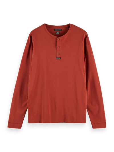 Scotch & Soda Longsleeve Grandad Tee in Rosewood | Buster McGee Daylesford