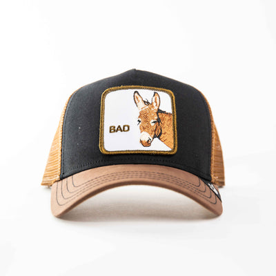 Goorin Bros - Bad Ass Trucker Cap in Black | Buster McGee Daylesford