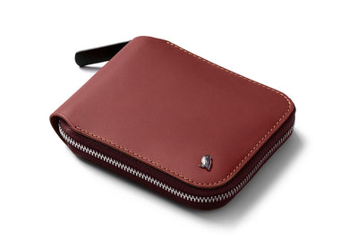 Bellroy Zip Wallet in Red Earth