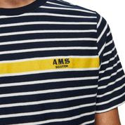 Scotch & Soda Crewneck Tee with Contrast Jacquard Placement Stripe 0217