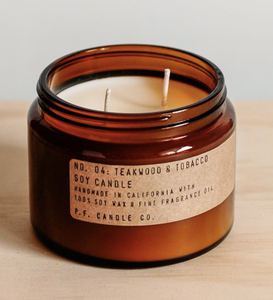 P F Candle Co Teakwood & Tobacco Candles
