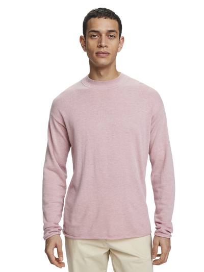 Scotch & Soda Relaxed Crewneck Pullover in Retro Pink Melange
