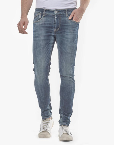 Le Temps des Cerises Power Skinny Jeans in Blue