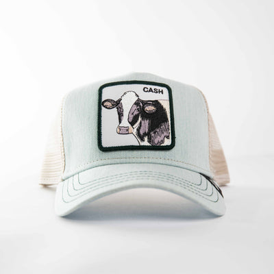 Goorin Bros - Cash Cow Trucker Cap in Blue | Buster McGee Daylesford