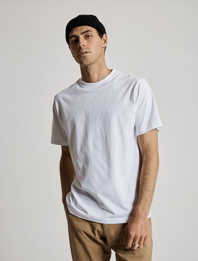 Mr Simple Fair Trade Heavy Weight Tee -  White | Buster McGee Daylesford