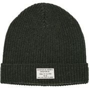 Load image into Gallery viewer, Scotch & Soda Classic Beanie in Structured Knit in Military